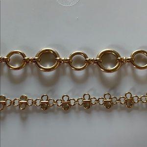 Jewelry - BUNDLE!!! 2 gold chockers